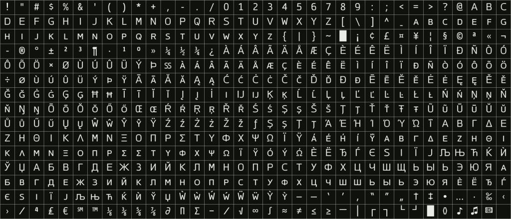Cinecav Small Caps, an FCC compliant closed caption sans-serif font